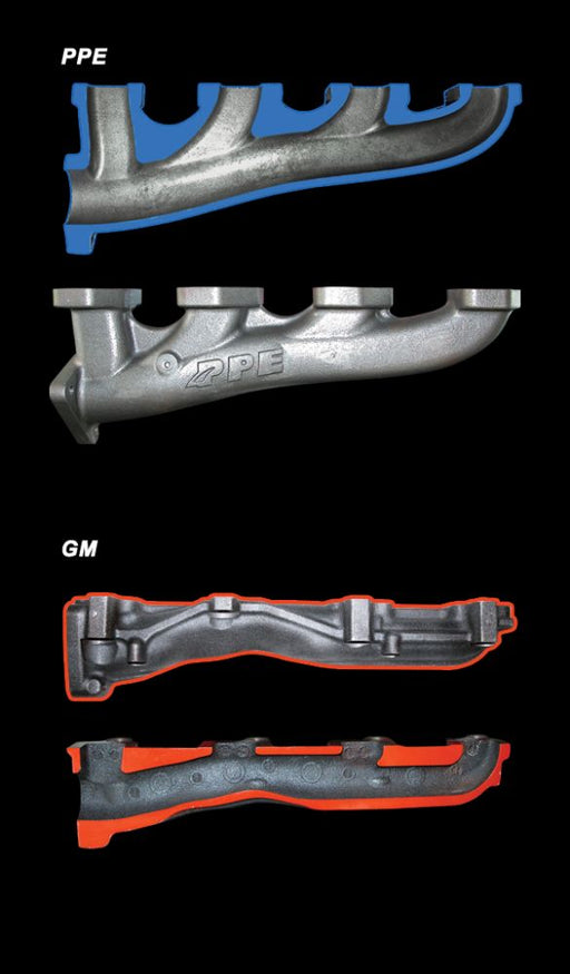 PPE Manifolds with Up-Pipes 01-16 Duramax