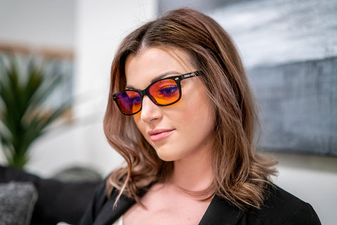 Orange Optics blue light blocking glasses