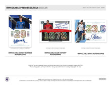 Load image into Gallery viewer, 2020-21 PANINI IMPECCABLE PREMIER LEAGUE SOCCER 3 BOX HOBBY PYT CASE BREAK #6