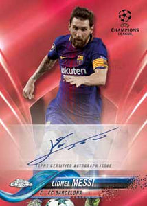 2017-18 TOPPS UEFA CHAMPIONS LEAGUE CHROME 1 BOX, 9 SPOTS, 2 PACKS PER SPOT, RANDOM PACKS BREAK - #4