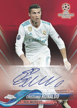 Load image into Gallery viewer, 2017-18 & 2018-19 TOPPS UEFA CHAMPIONS LEAGUE CHROME 1 BOX OF EACH, 18 SPOTS, 2 PACKS PER SPOT (1 OF EACH YEAR), RANDOM PACKS BREAK - #5