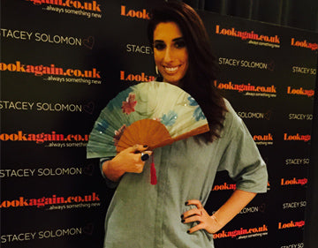 The talented and vivacious Stacey Solomons spotted holding Rockcoco's stunning 'Hawaii' hand fan