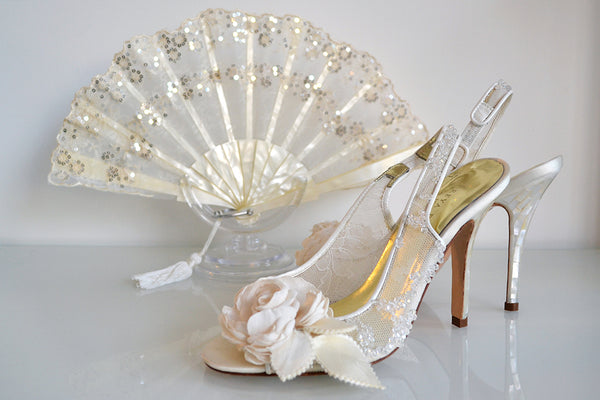 Freya Rose fairy Dust shoes alongside Rockcoco's shimmering Rio fan