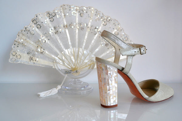 Freya Rose Marte Champagne shoesalong side Rockcocos Rio' fan.