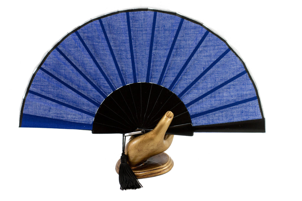 Glastonbury festival Blue hand fan