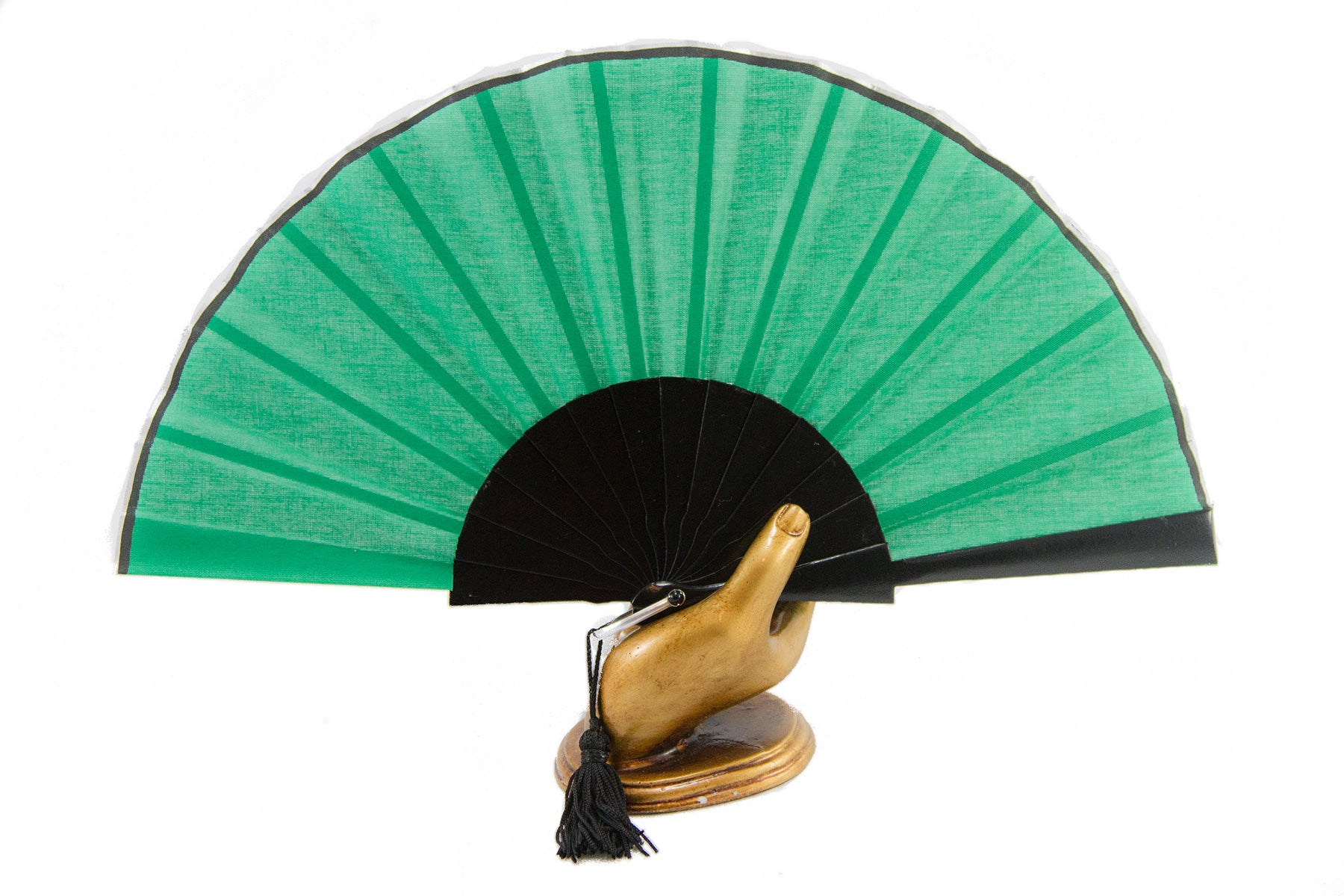 Green Glastonbury festival hand fan