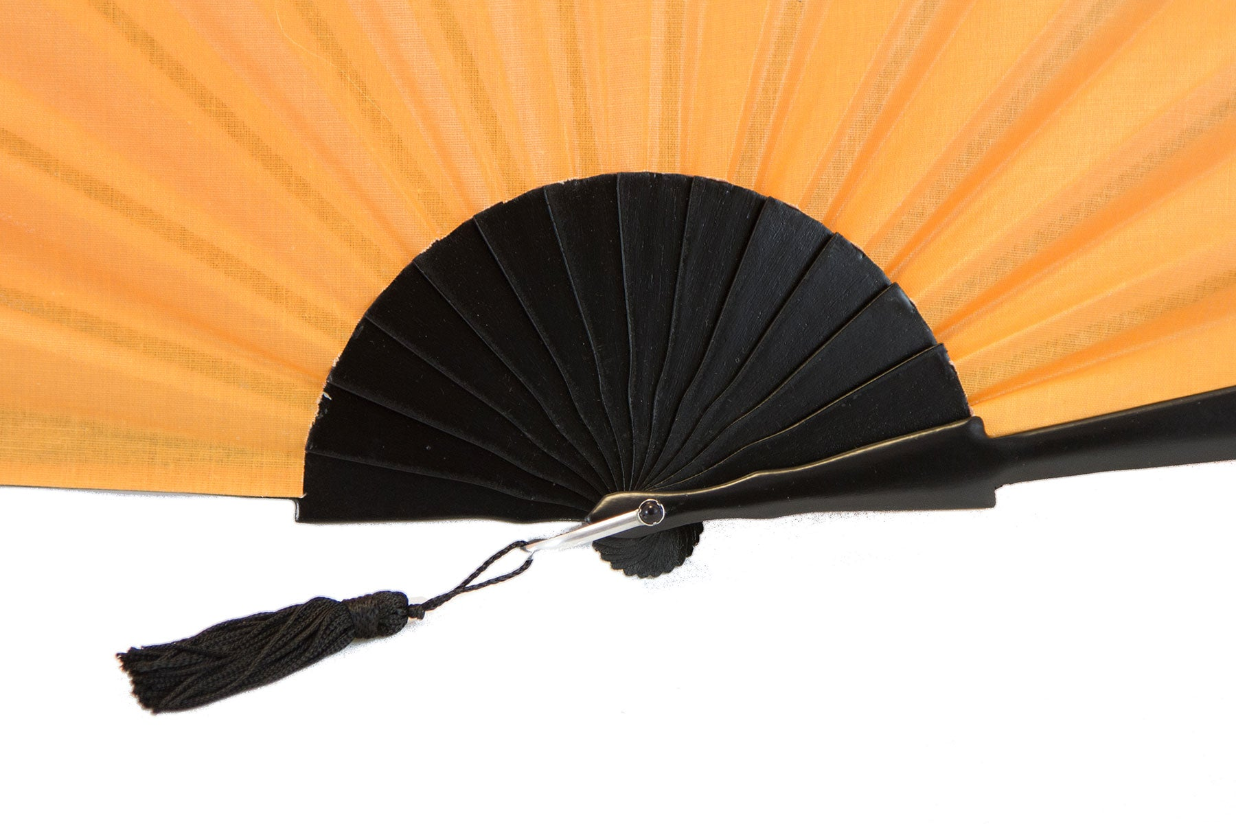 Orange Glastonbury festival hand fan detail
