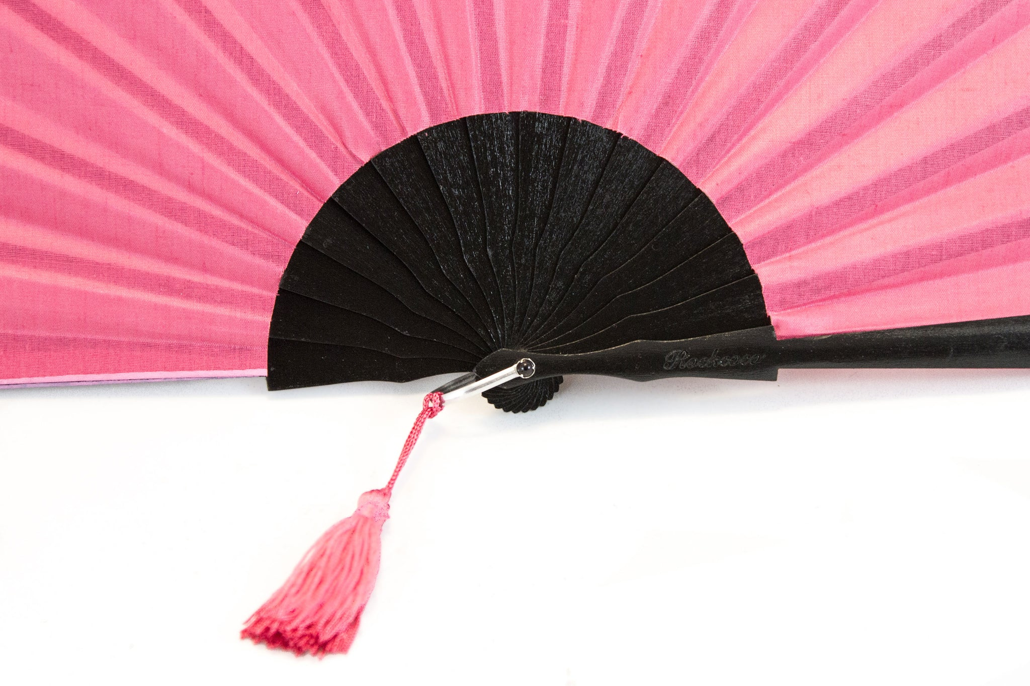 Rockcoco fans Pink Glastonbury festival fan with pink tassel