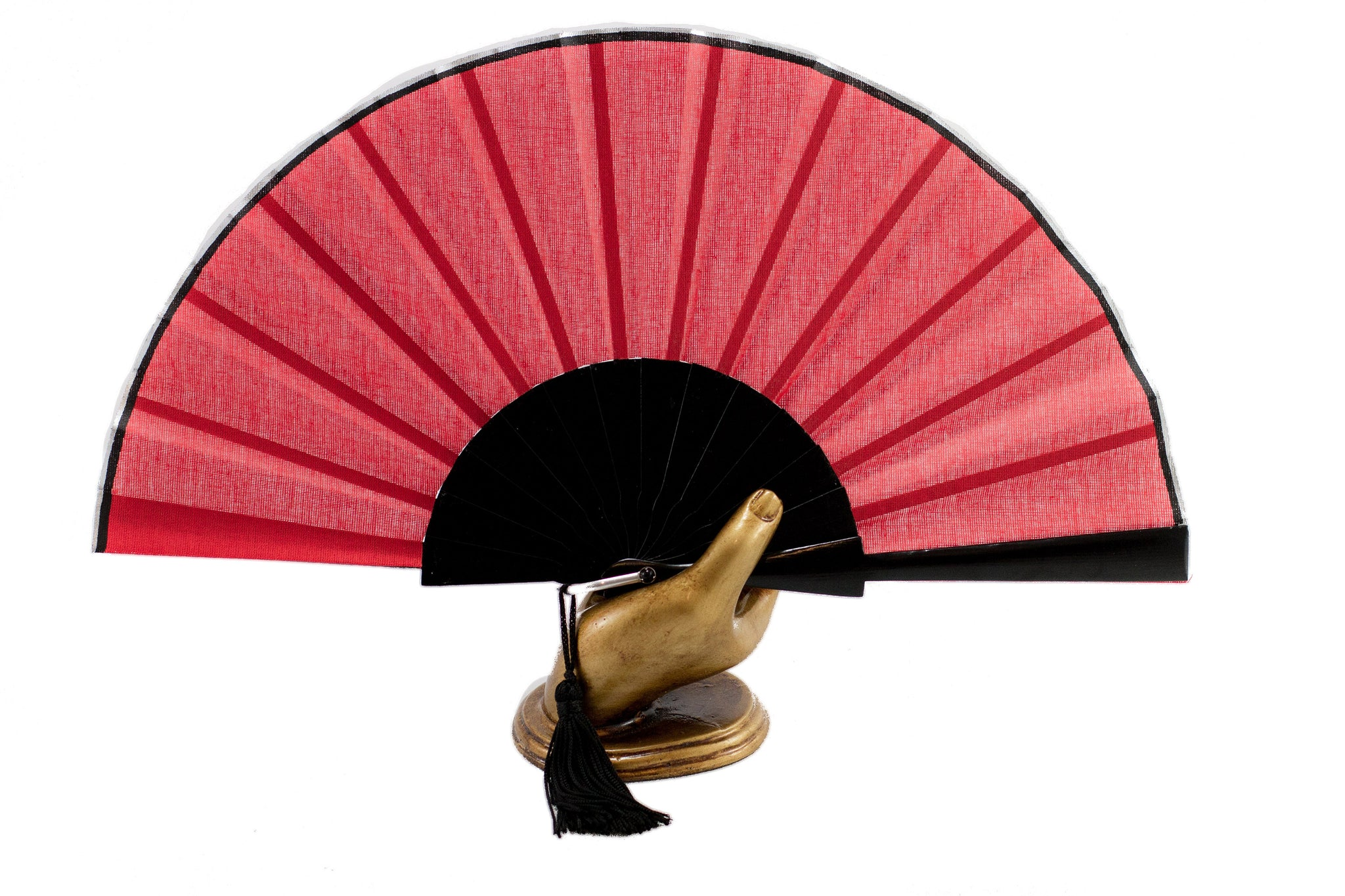 Red Glastonbury festival hand fan