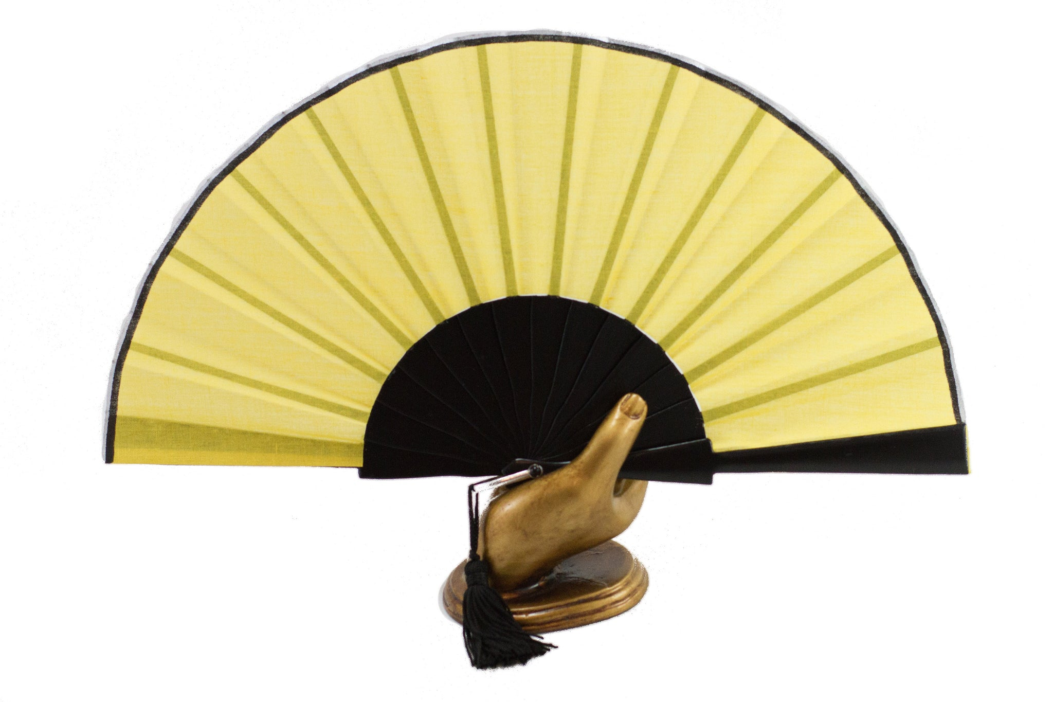 Yellow Glastonbury festival hand fan