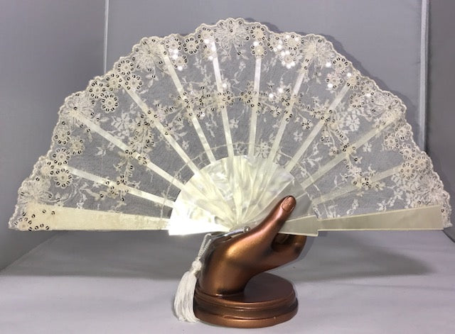 Rio Cream Hand Fan