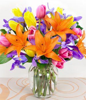Bright colour bouquet