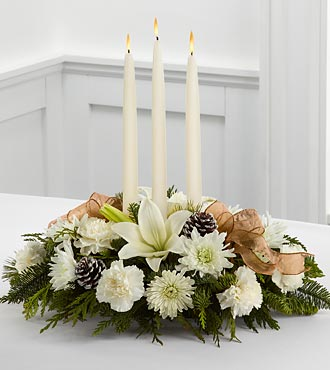 Glowing Elegance Floral Centerpiece