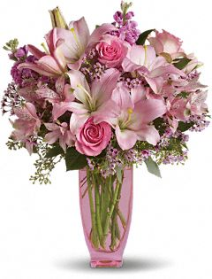 Pink Bouquet with Pink Roses