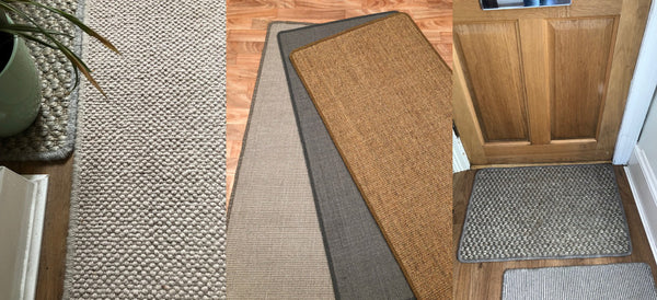 sisal, seagrass, natural rugs for door ways and hall runners