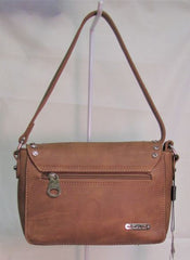 Montana West Concho Collection Crossbody Bag - Brown