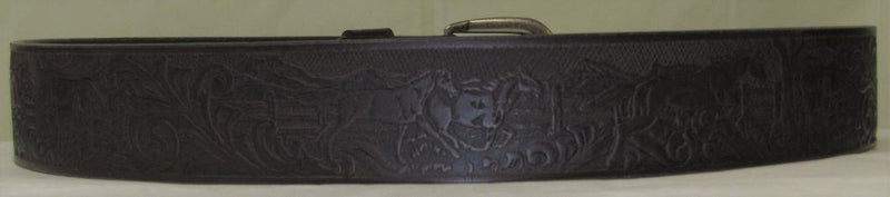 Men's Embossed Horse Belt
