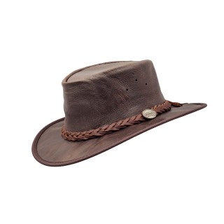 Barmah Foldaway Cowboy Hat - Dark Brown