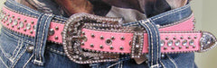 1/2' Leatherette Belt with Bling