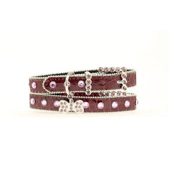 Blazin Roxx Croco & Crystal Dog Collar