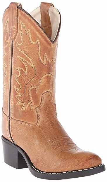 Youth Tan Canyon J Toe Western Boots