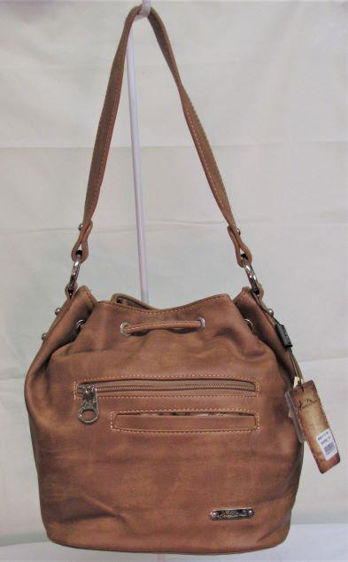 Montana West Concho Collection Hobo Bag - Brown