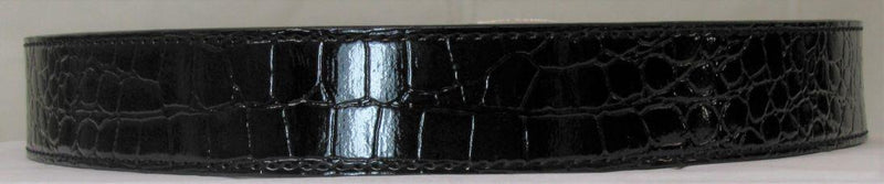 Men's Black Crocodile Belt