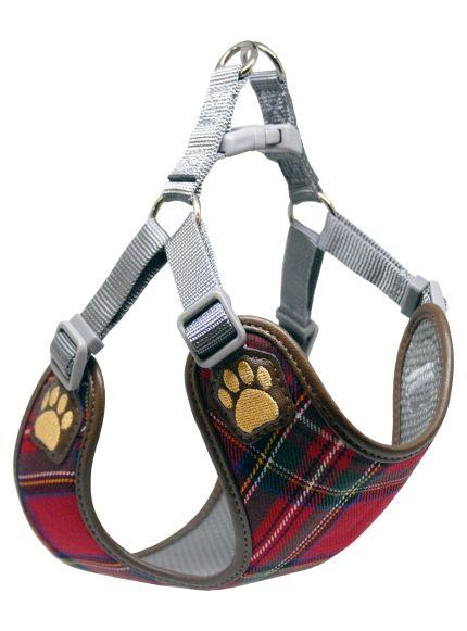 Pretty Paw Buffalo Check Harness