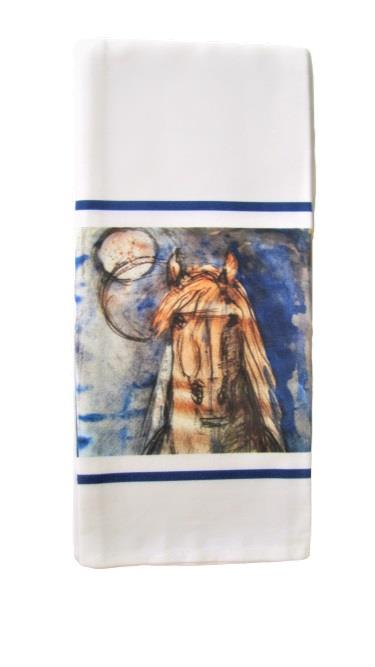Midnight Horse Tea Towel
