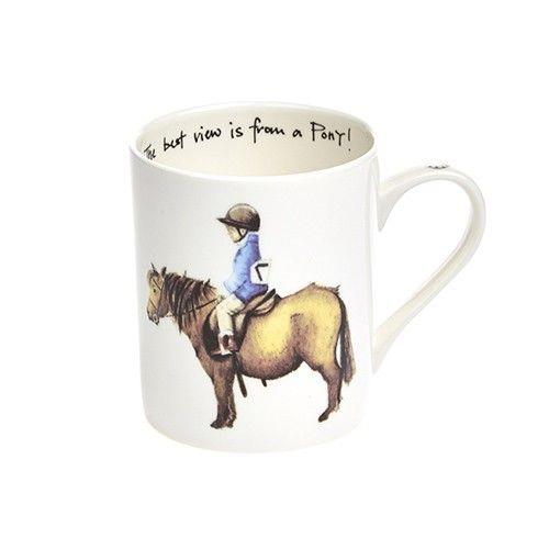 """The best view is from a Pony"" Mug"