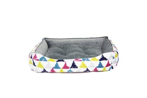 Be One Breed Cozy Bed - Colourful Triangles