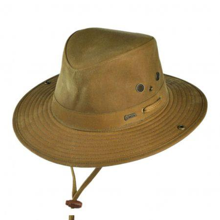 Outback River Guide Oilskin Cowboy Hat - Field Tan