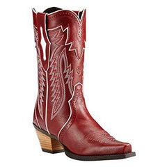 Lipstick Red Calamity Leather Cowboy Boot