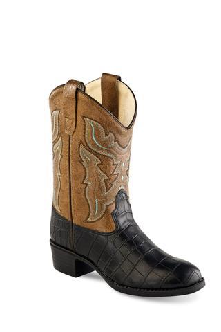 Western Faux Leather Boys Cowboy Boots