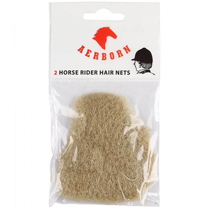 Aerborn Double Thickness Durable Hair Nets 2-Pack - Blonde