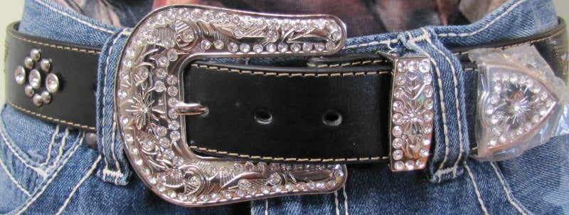 Women's Winged Cross Belt with Bling