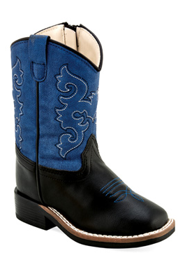 Toddler Broad Square Toe Boots Blue