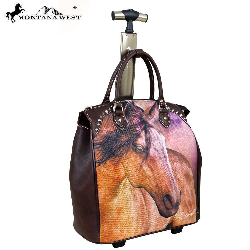 Montana West Horse Art Luggage -Laurie Prindle Collection