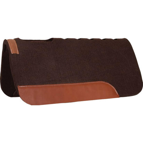 Mustang Chocolate Felt Cut Back Pad With Vent Holes
