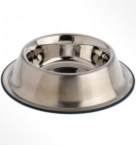 Premium Rubber-Bonded Stainless Steel No-Tip Bowl