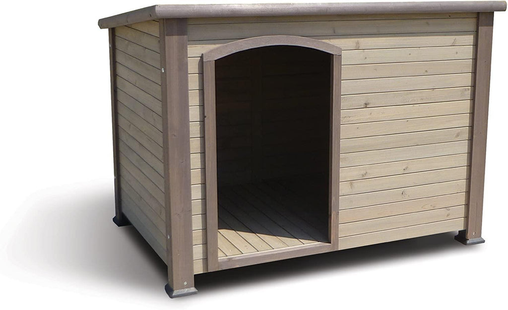 The Extreme Outback Log Cabin Dog House - Taupe