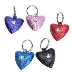 Costal - Frosted Heart Cat Bells - Pink, Red, Purple, Blue, or Black