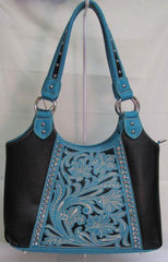 Montans West Turquoise and Black Handbag