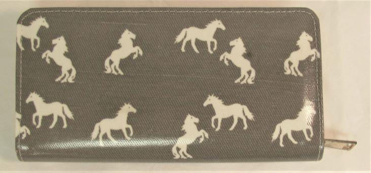 Grey and White Horse Print Wallet