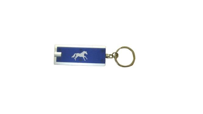 Printed Horse Flash Light Key Chain