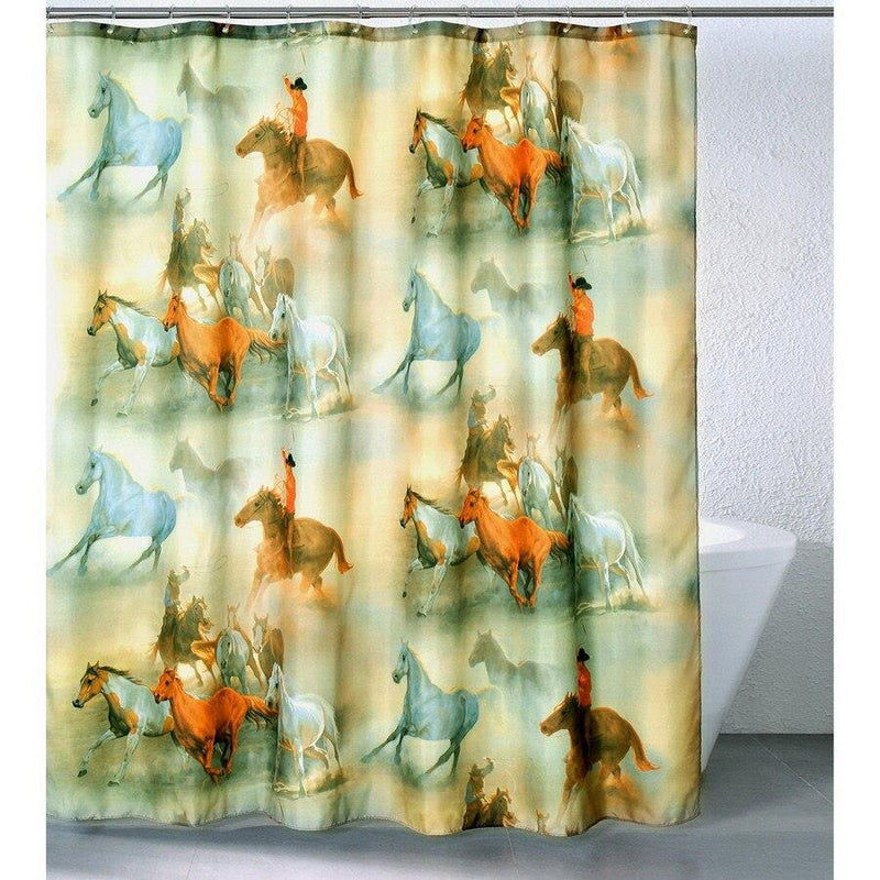 Horses Round Up Shower Curtain