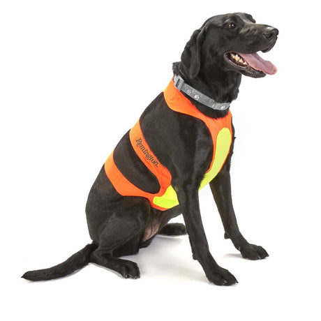 Remington Orange Chest Protector for Dogs - Large