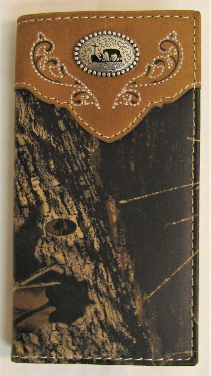 Nocona Youth Mossy Oak Praying Cowboy Rodeo Wallet
