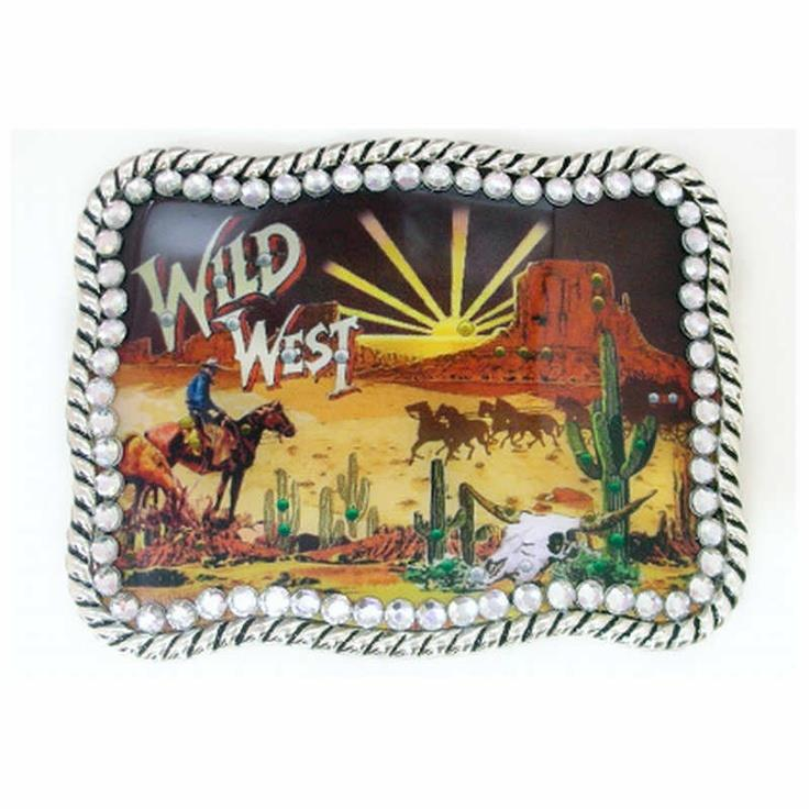 Nocona Belt Co - Wild West - Belt Buckle
