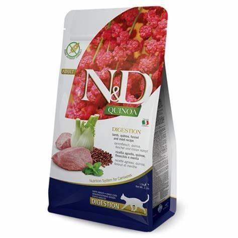 N&D Quinoa - Digestion Cat Food - Lamb, Quinoa, Fennel, and Mint Recipe